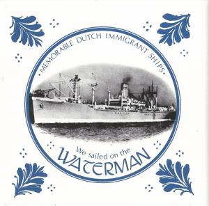 Emigrant ships holland america line tiles for Waterman 16